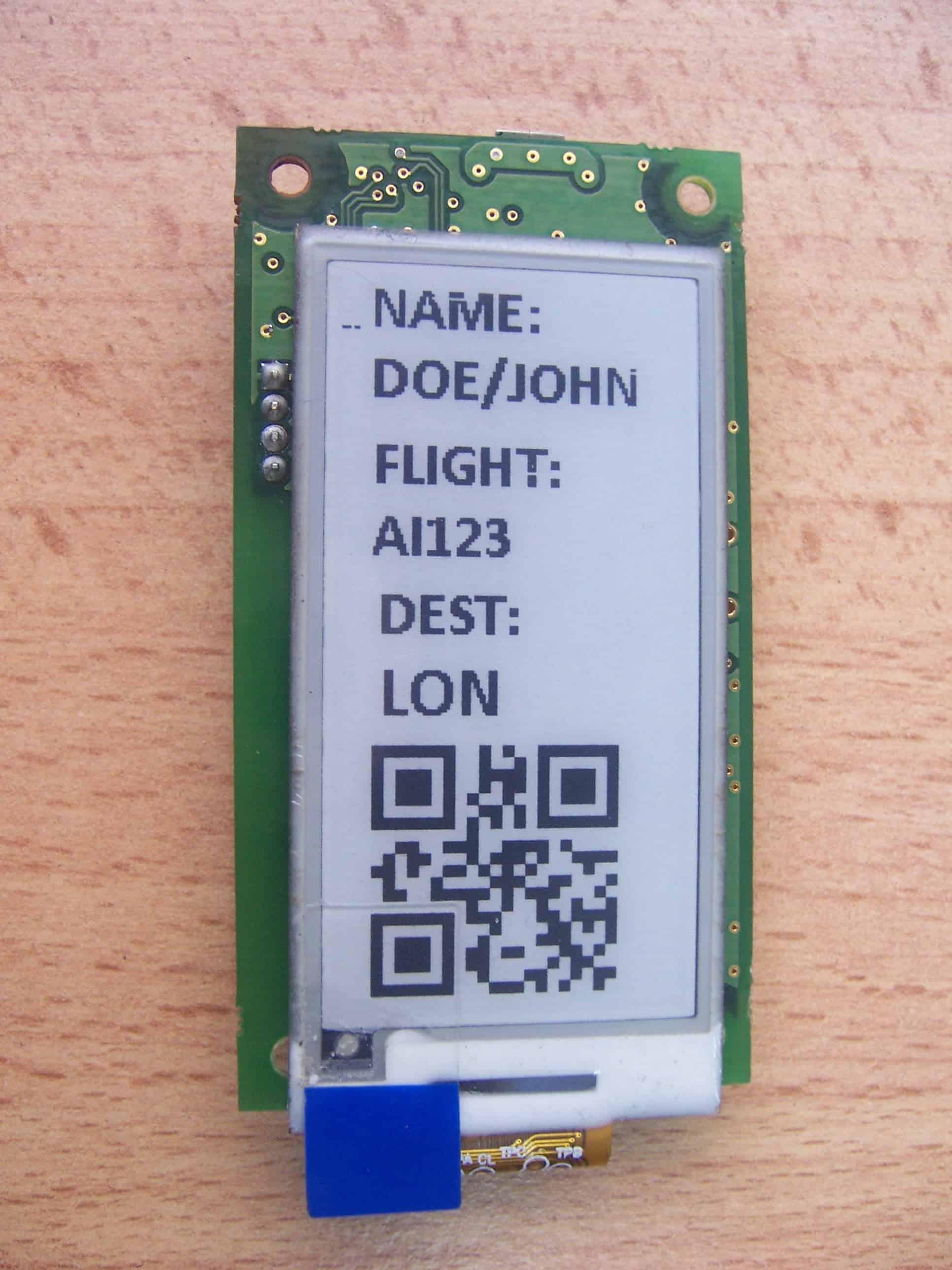 Bluetooth E-paper display