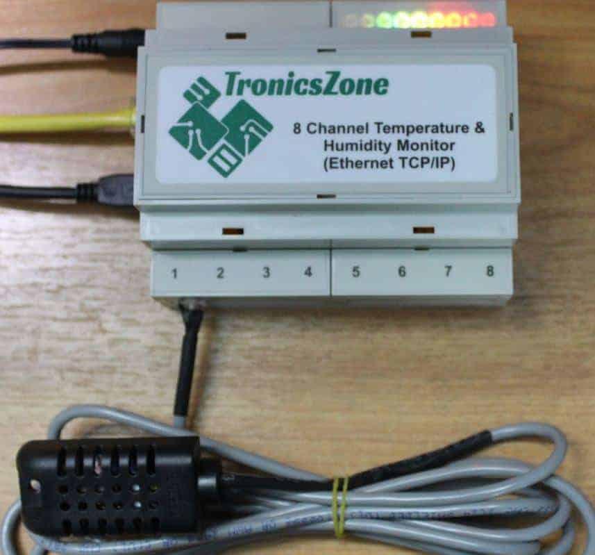 TCP-IP-Temperature-Humidity-monitor