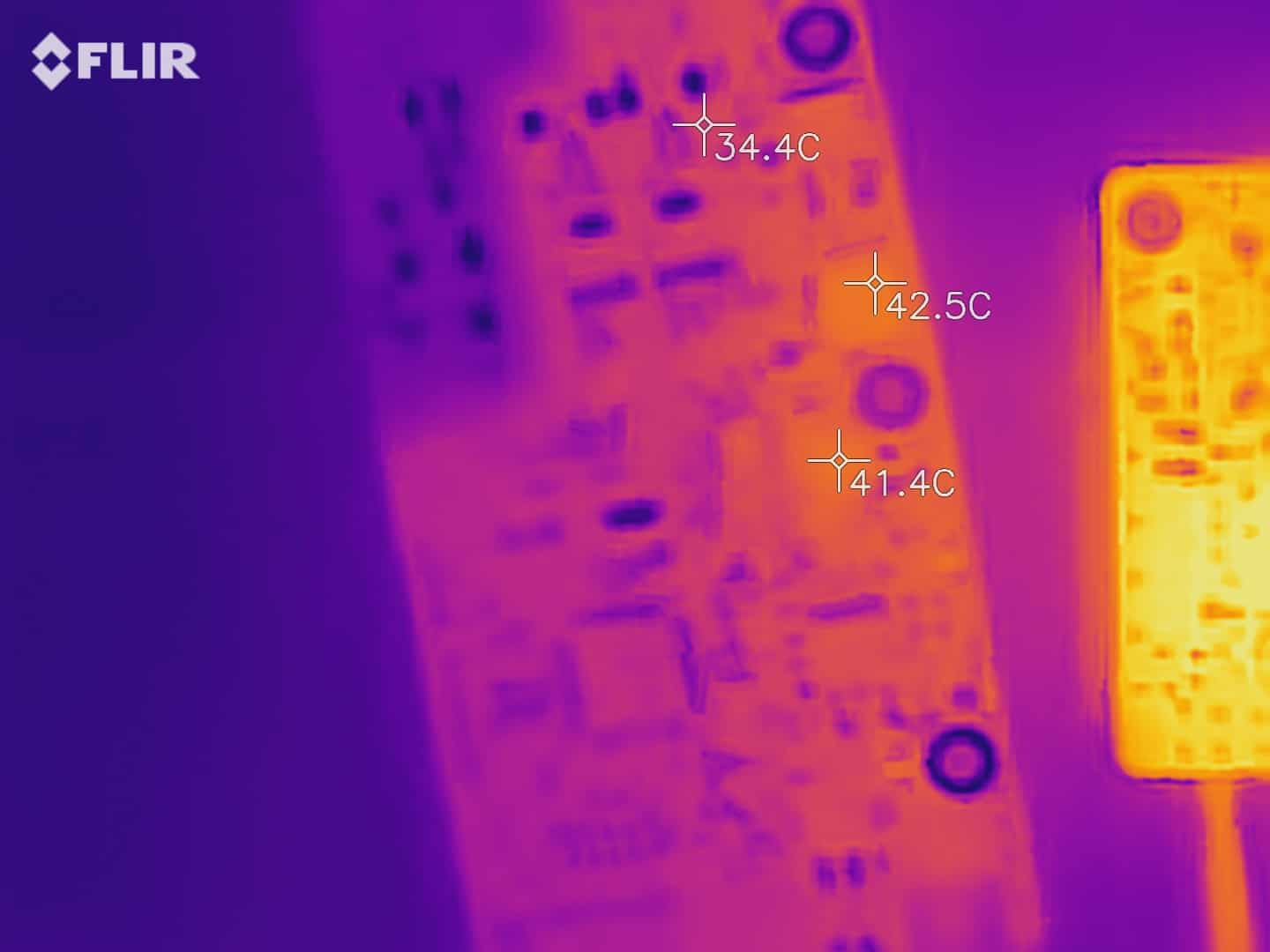 PCB infrared thermal image